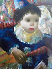 """CALOGERO Jean (1922-2001) Né en Sicile  Huile sur toile """"L'enfant Pierrot"""" 1945"""