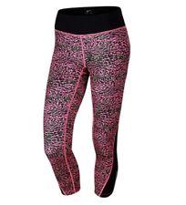 Nike Racer Leopard Legging XS Pink Black Capri Pant Compression Running