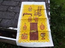Vintage Country Kitchen Linen Dish Towel, Wall Hanging - Kitchen Cupboard, Chair