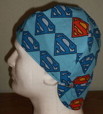 Superman Shield Handmade 100% cotton, Welder, Biker, pipefitter,4 panel hat