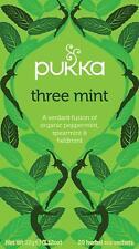 Pukka Three Mint Tea Bags  80 Enveloped Tea Bags Supplied  Free UK Delivery