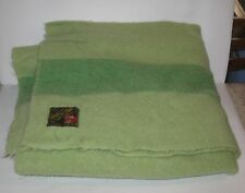 Vintage Green Trapper Point Wool Blanket 3.5 Point  60'' X 48''   FREE SHIPPING