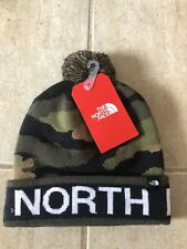 The North Face Camo Pom Beanie  Brand New With Tags