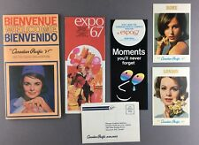 CANADIAN PACIFIC AIRLINES WELCOME ABOARD BROCHURE INCL AIRLINE ISSUE POSTCARDS