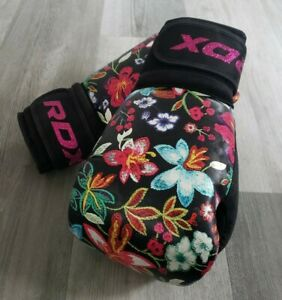 RDX Boxing Gloves Kickboxing Punching Women Gym MMA Fighting Muay Thai Floral