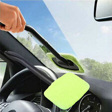 Windshield Car Glass Cleaner Wiper Handle Wand Microfiber Cloth Auto Tool USA EM
