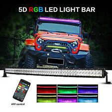"LED Light Bar Curved 52"" 300W Auxbeam V-Series RGB Strobe Controlled 5D Lens"