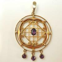 9ct Gold Victorian / Edwardian Amethyst Pendant