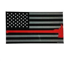 Thin Red Line with Axe Reflective Flag Firefighter Emt Paramedics Decal sticker