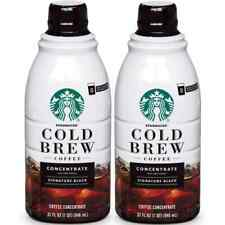 Starbucks Cold Black Brew Coffee Concentrate / 2 Bottle x 32 fl oz / 16 Servings