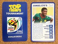 TOP TRUMPS Tournament 2010 World Cup football card - VARIOUS (Lot 01)