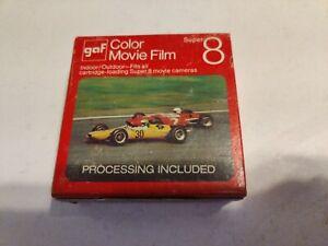 GAF SUPER 8 COLOR MOVIE CAMERA FILM - EXPIRED November 1972 - Unopened