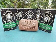 "Grandpa's Pine Tar Soap 4.25 oz. Bar. Six Pack (6) ""Original"" Fast Shipping....."