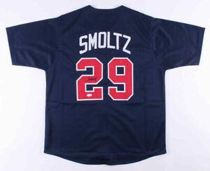 John Smoltz Signed Atlanta Braves Throwback Jersey (JSA COA) 8xAll Star Pitcher