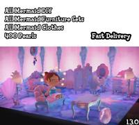 Animal Crossing:New Horizons  - All Mermaid Everything + Mermaid DIY+400 pearls