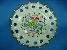 "Vintage 5 1/2"" Souvenir Plate San Juan Islands, WA Reticulated Scalloped Rim"
