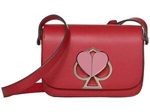Kate Spade New York Nicola Twistlock Small Flap Shoulder Bag (Hot Chili)