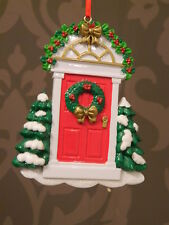Red Door - Christmas Hanging Decoration
