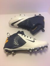 Nike Lunar Superbad Pro TD Mid Mens Football Cleats Navy White SZ 14 R14-5-34