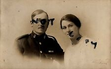 WW1 Royal Marines Band WW1 Veteran with Wife Chatham photographer
