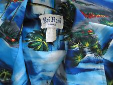 Vtg 80s Aloha Hawaiian Shirt Rai Nani Usa Xl Palm Trees Sail Boats Hoffman Print