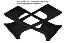 BLACK STITCH 2X B PILLAR LEATHER SKIN COVERS FITS BMW E46 SALOON 1998-2005
