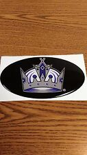 "NHL LOS ANGELES KINGS CAR/BUMPER STICKER 5 1/2""X 3 1/2"" OVAL NICE !"