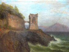 Küste Klippen Meer See Ruine Maritim Gustav Adolf Horst Romantik Gamälde Bild
