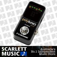 TC Electronic PolyTune 2 Mini Noir Polyphonic Guitar Tuner Pedal *BRAND NEW*