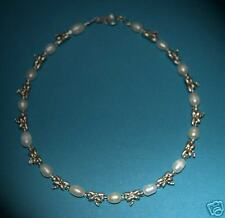 Freshwater Pearl & Tibetan Silver Dragonfly Anklet