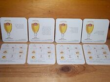 """STELLA ARTOIS """"THE 9 STEP BELGIAN POURING RITUAL"""" BEER BAR COASTERS NEW"""