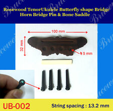 Ukulele Part - Rosewood Tenor Ukulele Butterfly Shape Bridge (GUB-002)