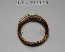German Made Wire 18ga Round Brass  3 Meter Coil