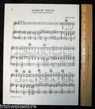 "GEORGIA TECH Original Vintage Song Page c 1938 ""Ramblin' Wreck"""