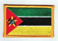 Toppe Toppa PATCH MOZAMBICO Bandiera 7x4.5cm banderina ricamata termoadesivo