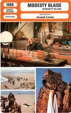 FICHE CINEMA : MODESTY BLAISE - Vitti,Stamp,Bogarde,Losey 1966