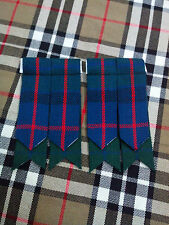 Men's Kilt Sock Flashes Flower Of Scotland Tartan/Highland Kilt Hose Flashes