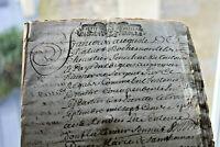 1707 MArquis De Vabres manuscript justice sentence 44p document Book calligraphy