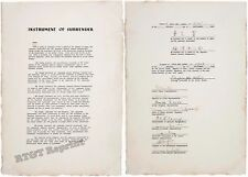Photograph  WWII Japanese Instrument of Surrender USS Missouri Year 1945 11x14