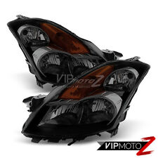 For 2007 2008 2009 Nissan Altima Sedan 4D [Sinister Black] Headlights Left Right