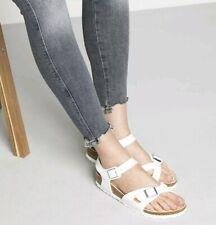 Birkenstock Rio White Birko-Flor Buckle Ankle Strap Sandals Women's SZ 41 10 US