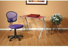 Office Desk Task Chair Swivel Mesh Computer Sewing Home Adjustable Seat Purple
