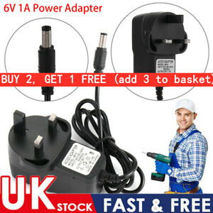 UK DC 6V 1A AC Power Supply Transformer Adapter Converter Wall Charger Plug