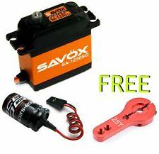 Savox SA-1230SG Steel Gear Digital Servo Free RED Horn & GLITCH ARRMA TRAXXAS