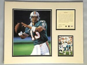 1995 Dan Marino Miami Dolphins Matted Kelly Russell Lithograph Print #344 NOS