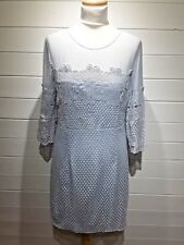 BNWT New Look Dress ~ Size 14 ~ Pale Blue ~ 3/4 Sleeve ~ Party Wedding ~ 1608