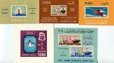 More details for dubai 1963-64 souvnir sheets (5) mnh