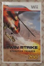 Nintendo Wii - Twin Strike Operation Thunder (Manual only)