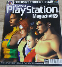 OFFICIAL UK PLAYSTATION MAGAZINE ISSUE NO.36--TEKKEN 3 COVER