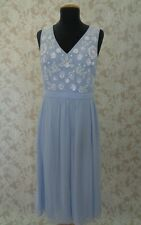 French Connection Blue Embellished Dress Size 12
